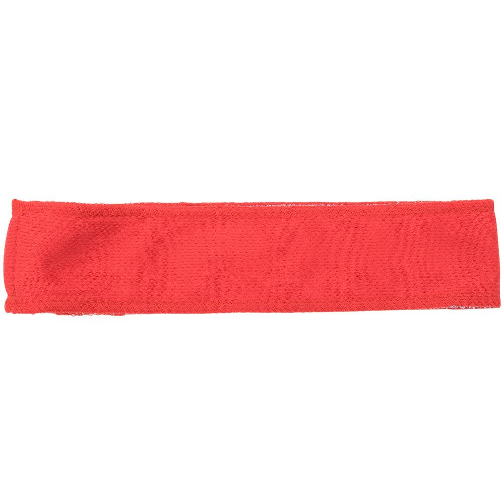 Red Customizable High-Performance Fabric Headband