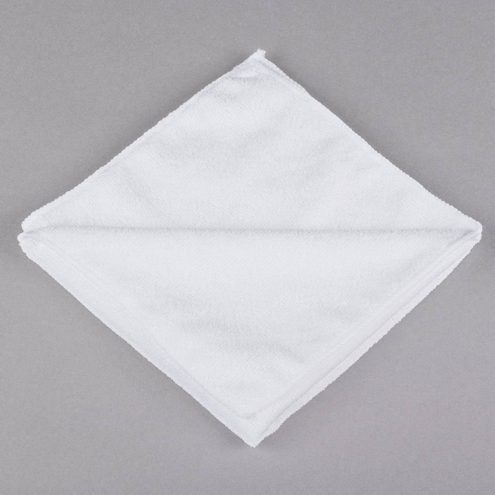 "Microfiber Cloth Best: 16"" X 16"" White Microfiber Cleaning Cloth"