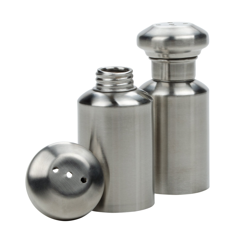 american metalcraft spm  oz satin finish stainless steel salt  - satin finish stainless steel salt and pepper shaker set main picture ·image preview · image preview