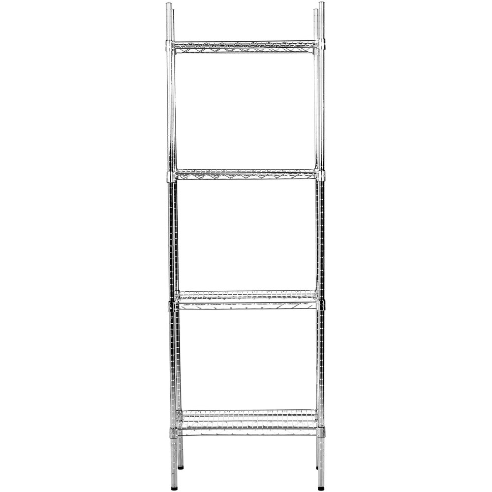 Regency 14 inch x 24 inch NSF Chrome Shelf Kit with 74 inch Posts