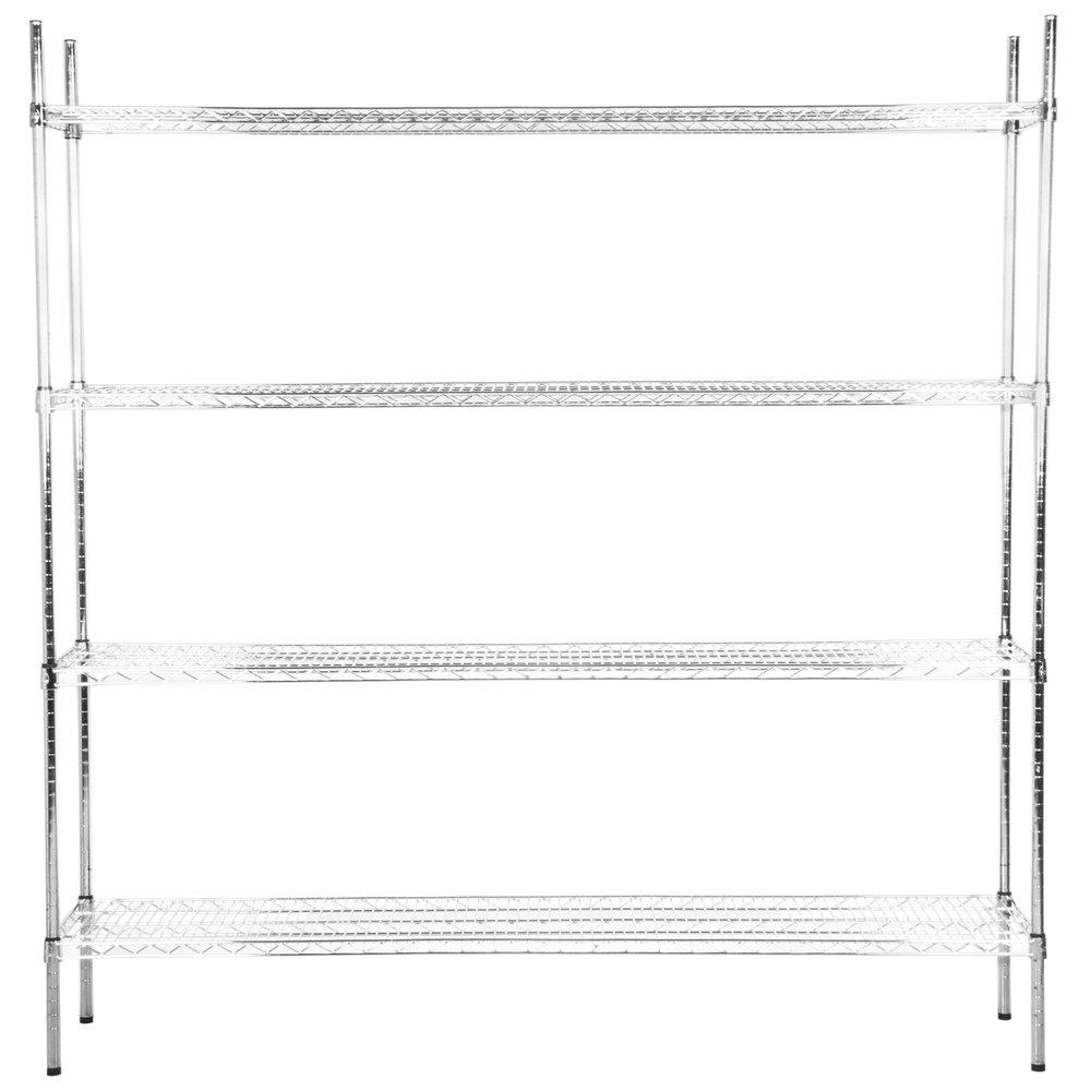 Regency 18 inch x 72 inch NSF Chrome Shelf Kit with 74 inch Posts