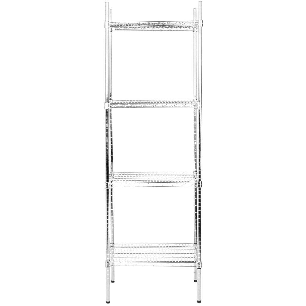 Regency 24 inch x 24 inch NSF Chrome Shelf Kit with 74 inch Posts