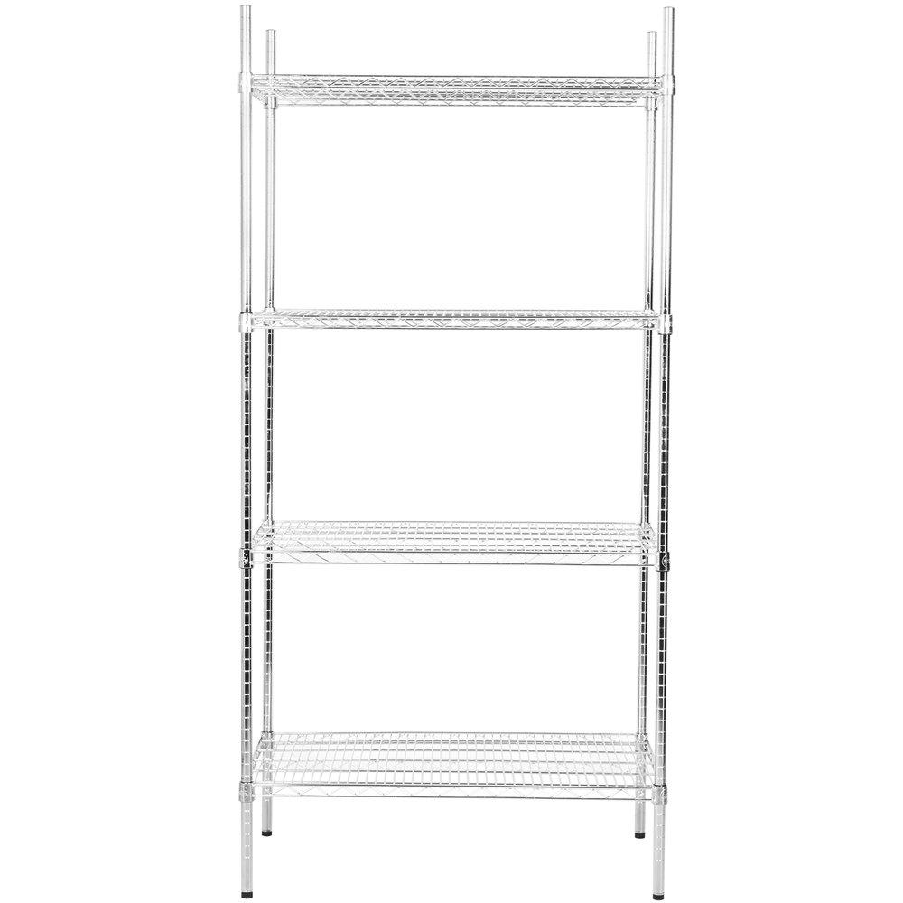 Regency 24 inch x 36 inch NSF Chrome Shelf Kit with 74 inch Posts