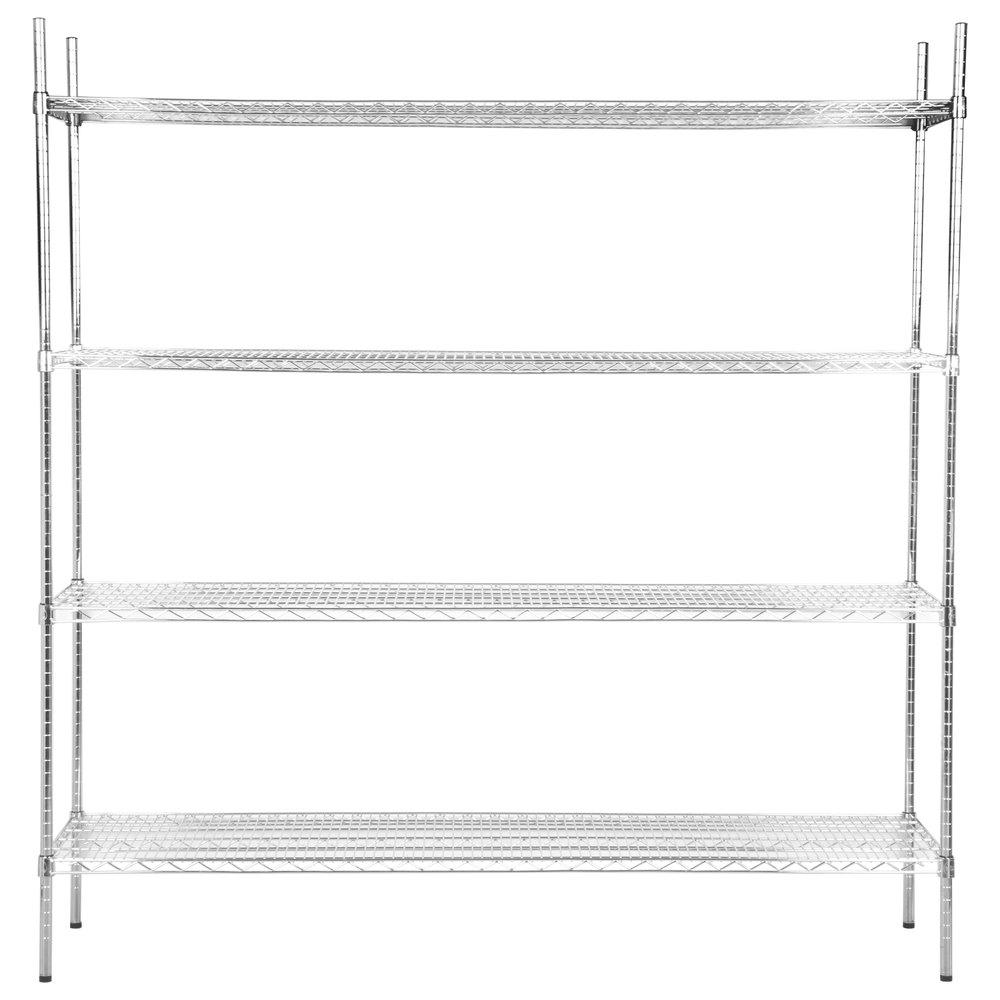 Regency 24 inch x 72 inch NSF Chrome Shelf Kit with 74 inch Posts