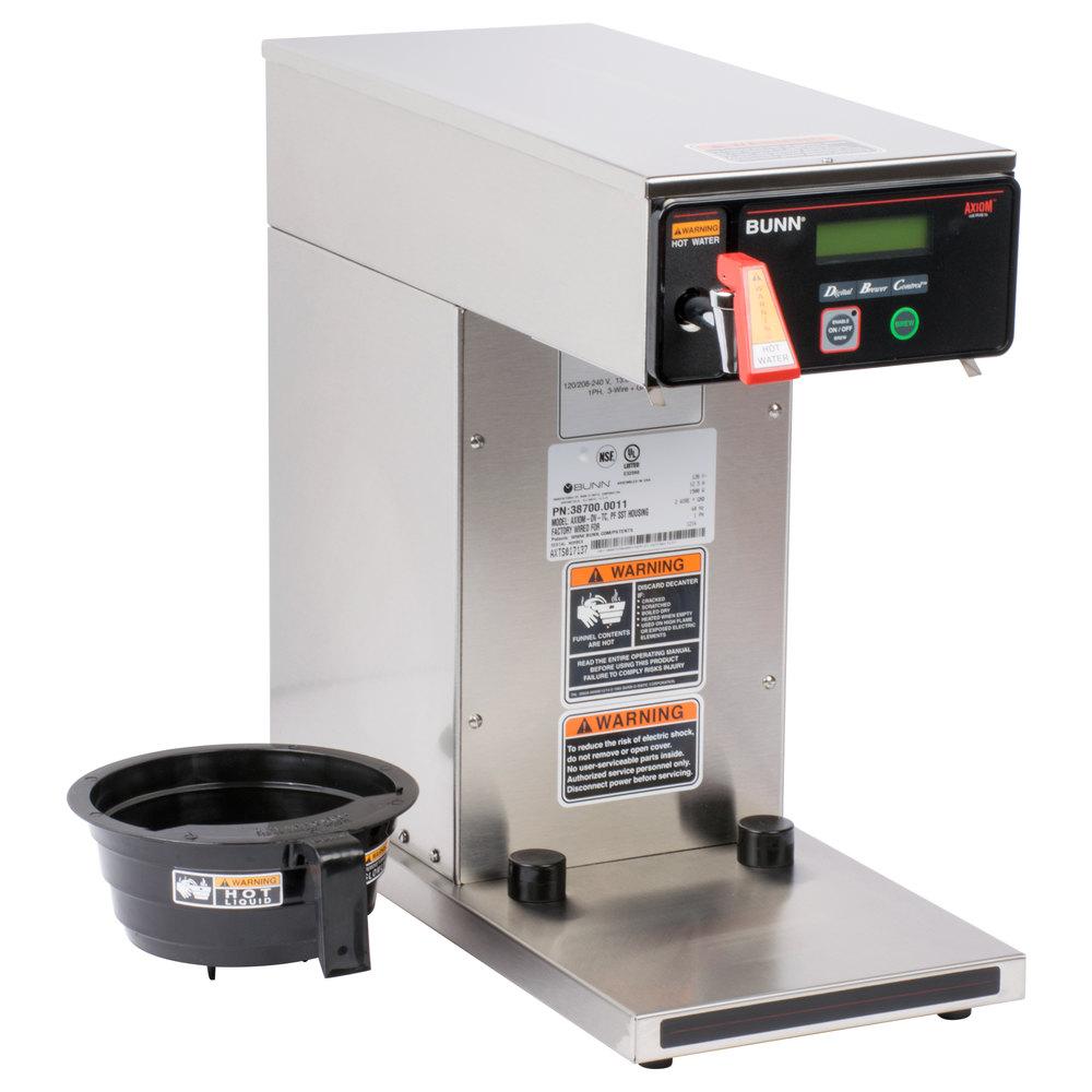 Dual Thermal Coffee Maker : Bunn 38700.0011 Axiom DV-TC Thermal Carafe Coffee Brewer - Dual Voltage