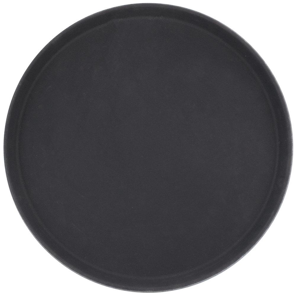 Carlisle 1600gl004 Griplite 16 Inch Black Round Non Skid Serving Tray