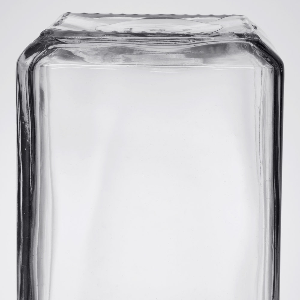 anchor hocking 2 qt stackable glass jar with brushed aluminum lid 6case
