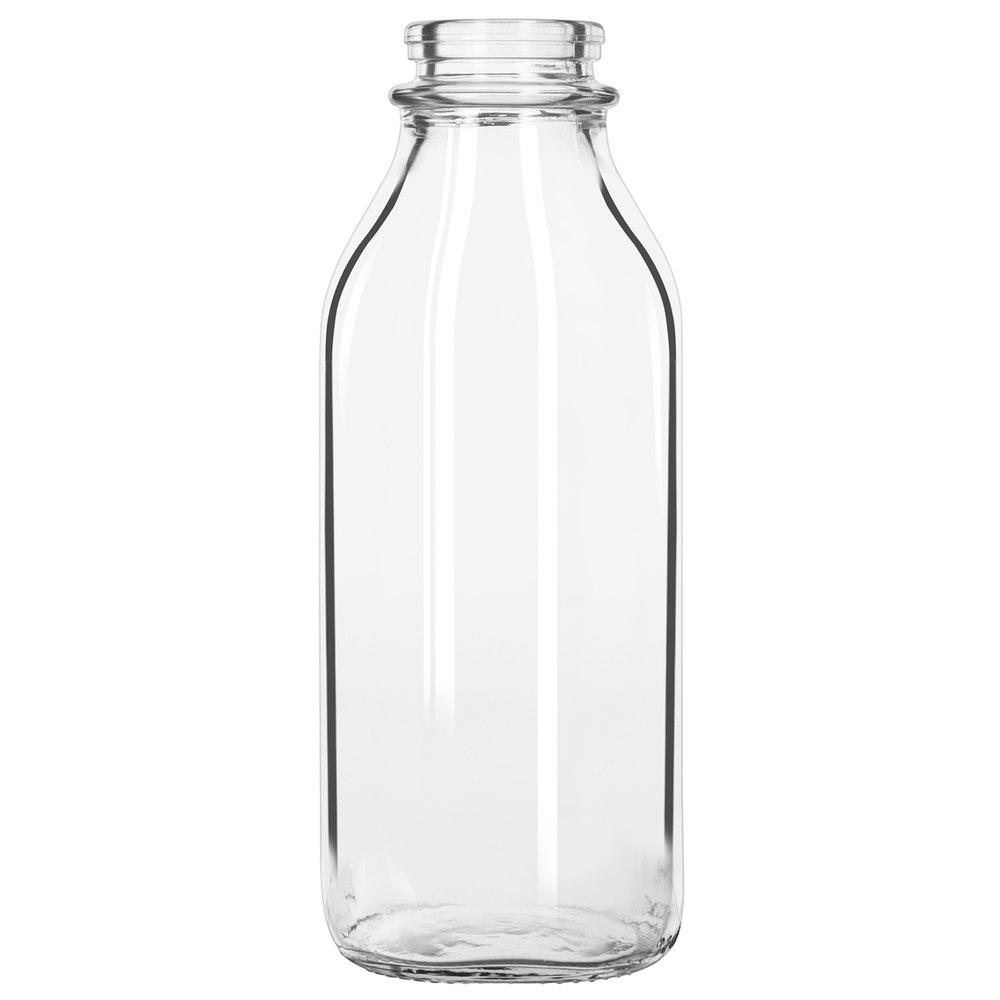 Oz Glass Milk Bottles