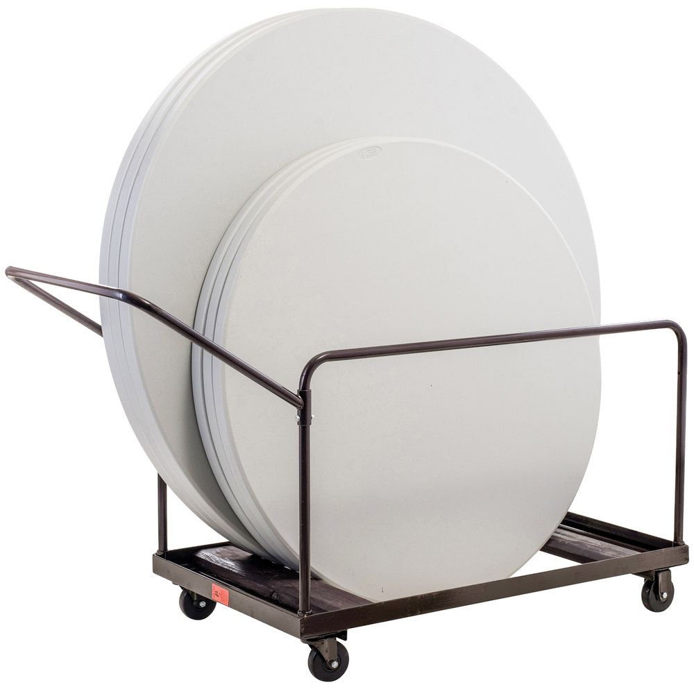 National Public Seating DY60R Round Folding Table Dolly