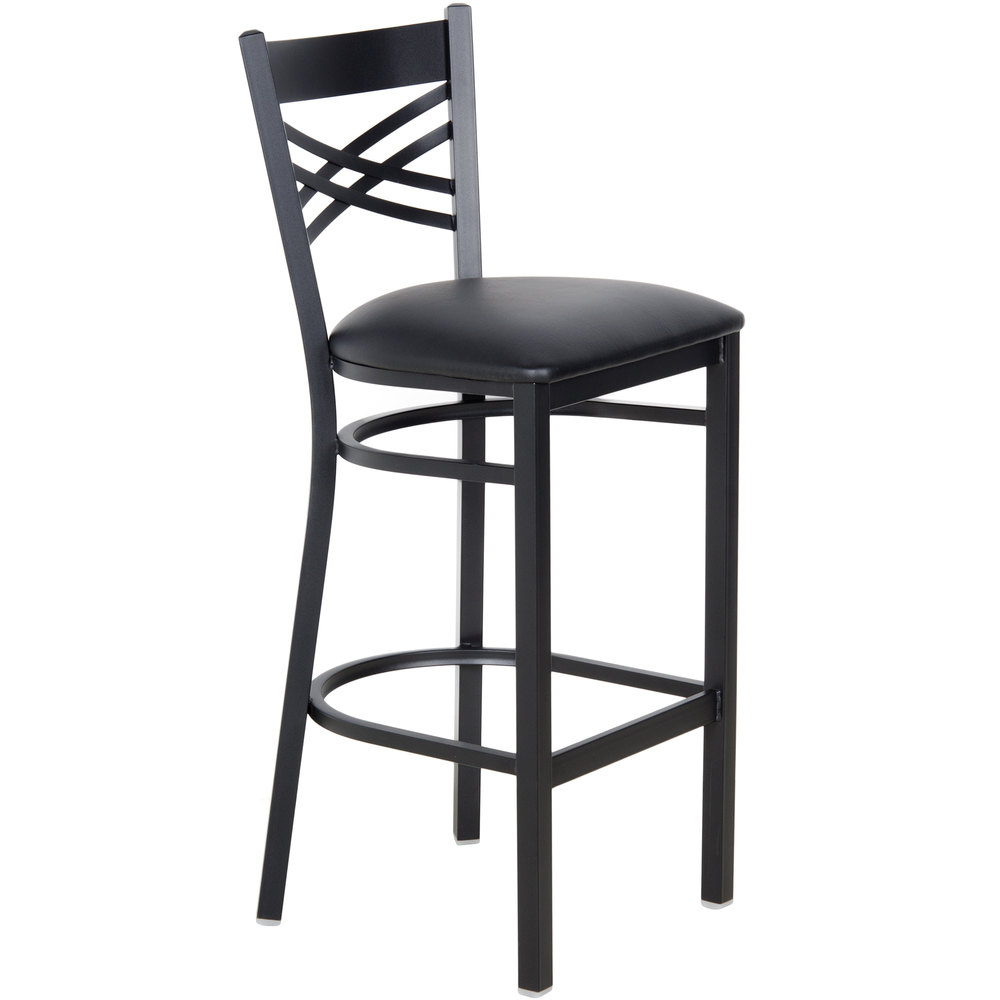 Lancaster Table Seating Cross Back Bar Height Chair With 2 1 Inch Padded