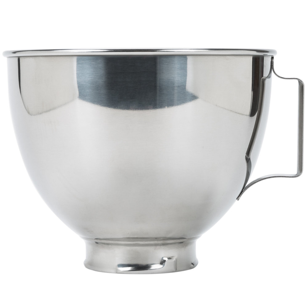 KitchenAid K45SBWH Stainless Steel 4.5 Qt. Mixing Bowl