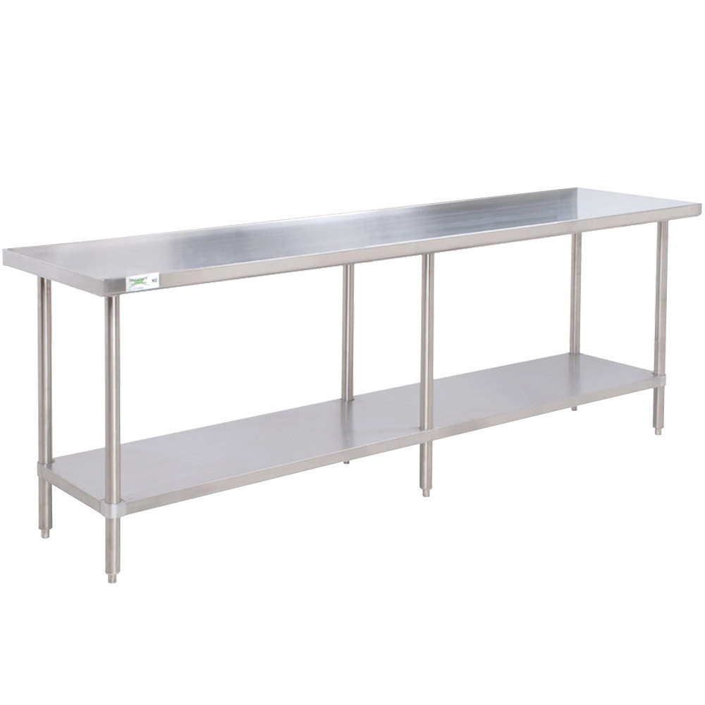 Regency 30 inch x 84 inch 16-Gauge 304 Stainless Steel Commercial Work Table with Undershelf