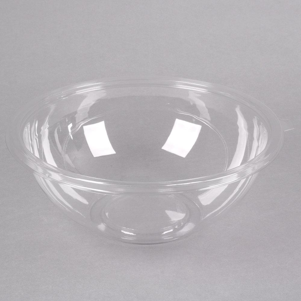 Fineline 5160-CL Super Bowl 160 oz. Clear PET Plastic Bowl ...