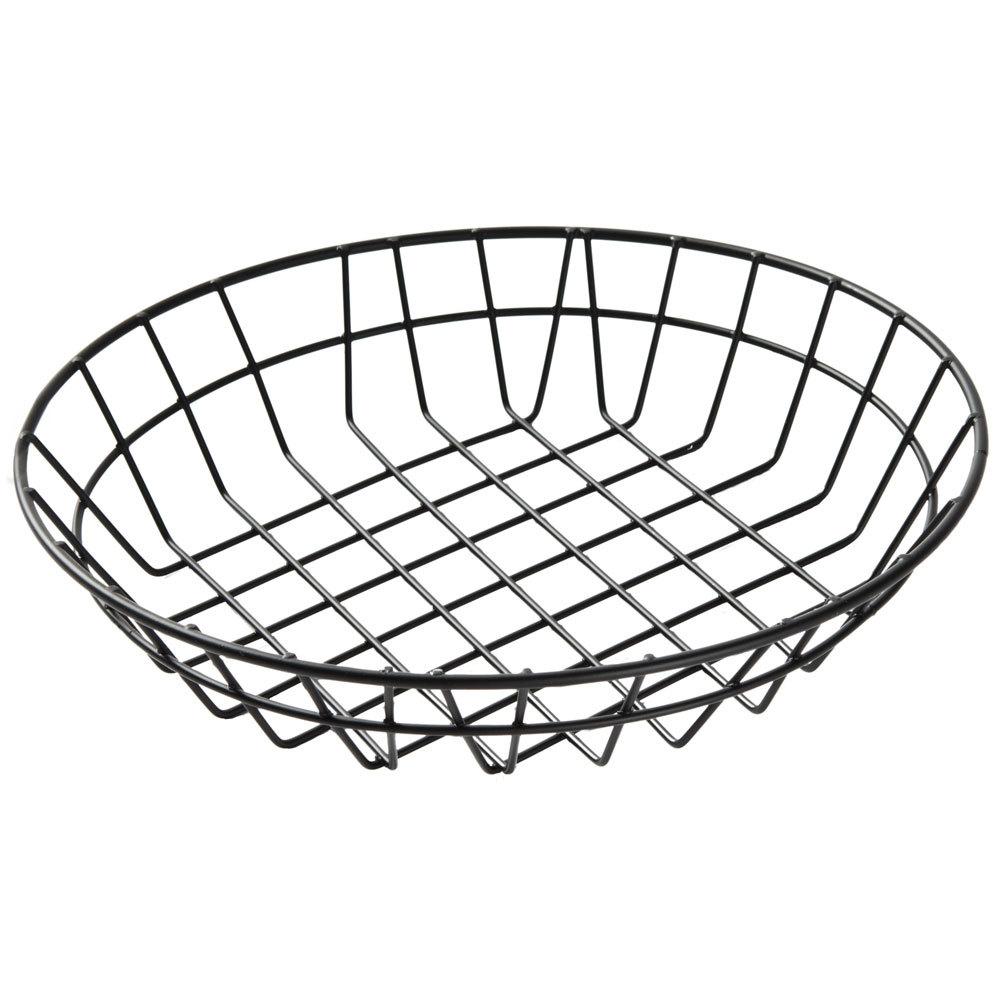 american metalcraft wib100 black round wire basket