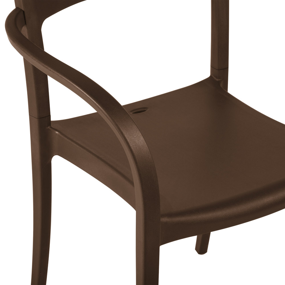 Brown Armchair Grosfillex Xa633275 Us633275 Vogue Cafe Stacking Armchair