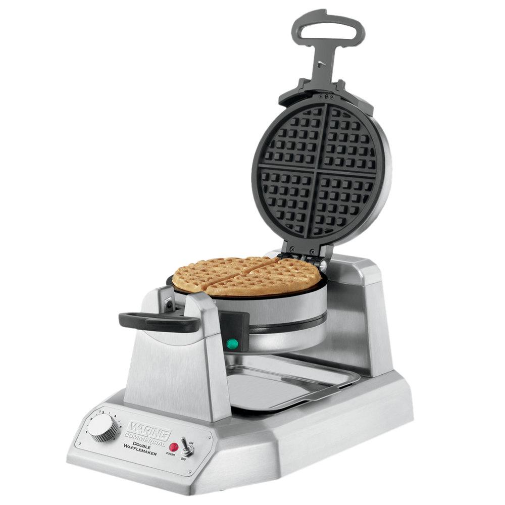 Stick On A Waffle Iron ~ Waring wwd non stick double waffle maker v