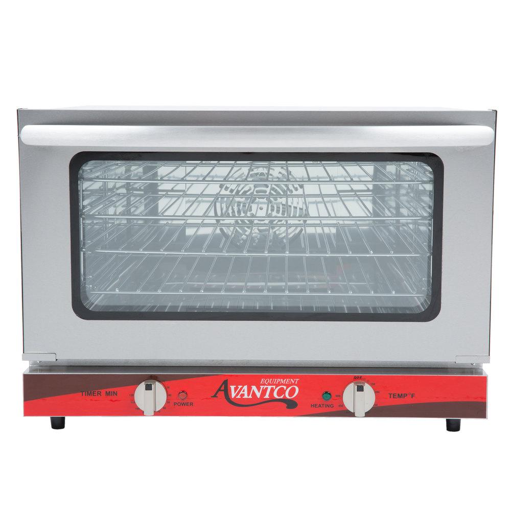 Countertop Convection Oven Glass : Avantco CO-16 Half Size Countertop Convection Oven, 1.5 Cu. Ft. - 120V ...