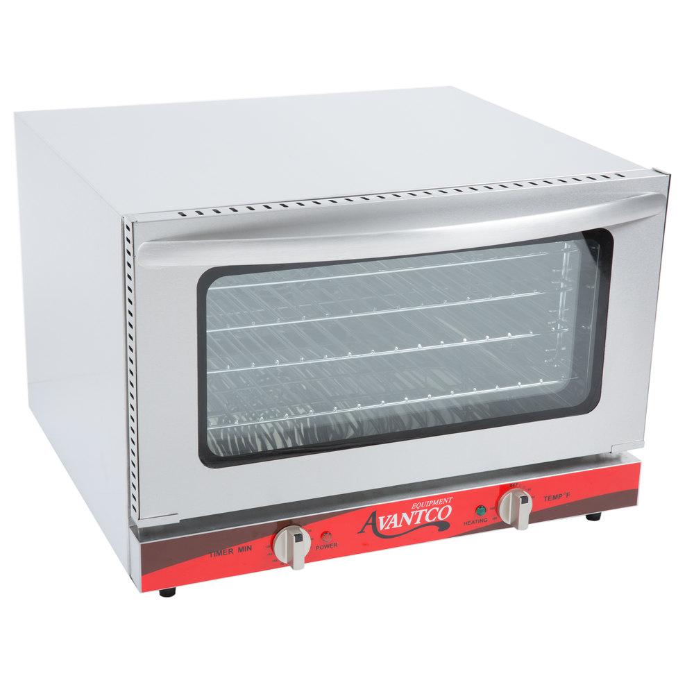 Avantco CO 16 Half Size Countertop Convection Oven, 1.5 Cu. Ft.   120V,  1600W