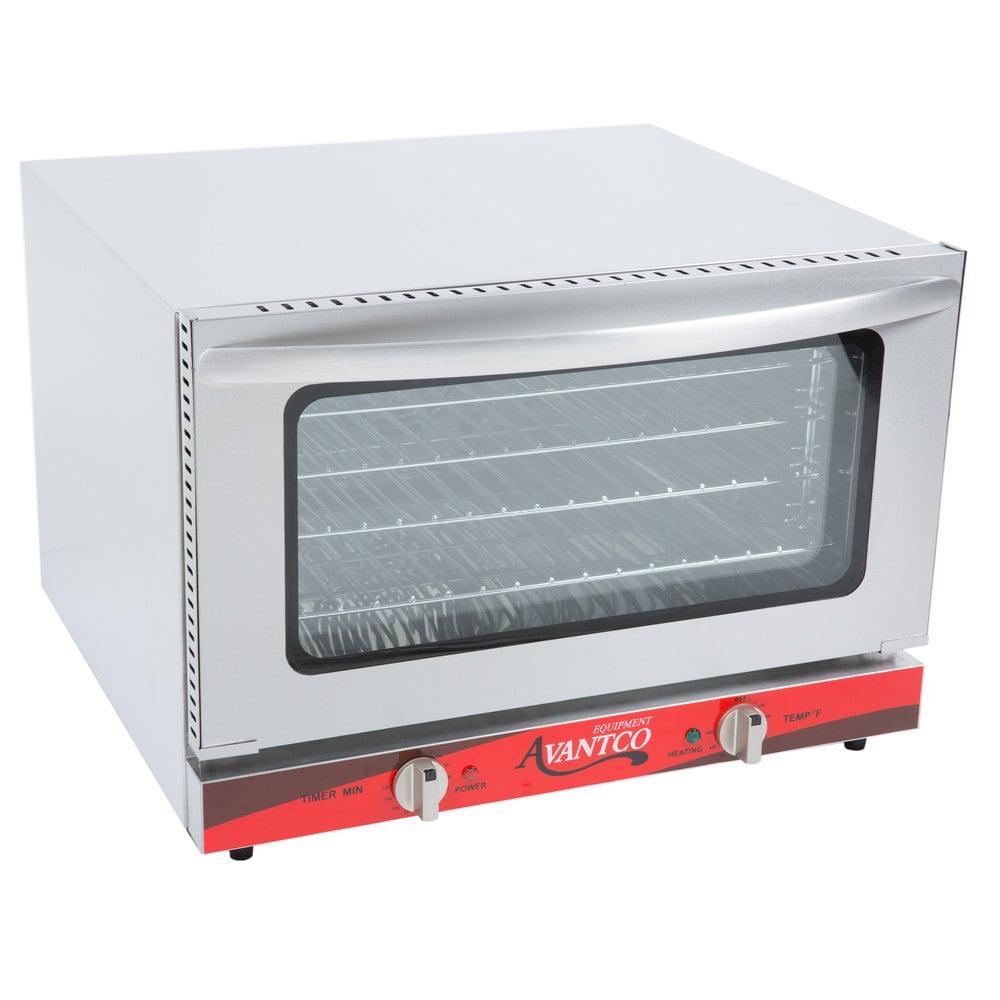 Avantco CO-16 Half Size Countertop Convection Oven, 1.5 Cu. Ft. - 120V ...