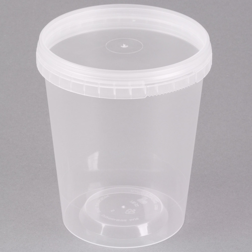 Disposable Plastic Containers With Lids WebstaurantStore
