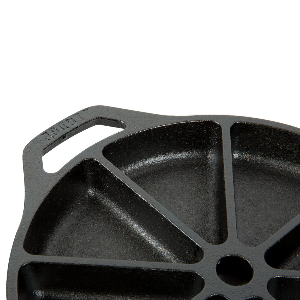 Lodge l cb pre seasoned cast iron wedge pan with