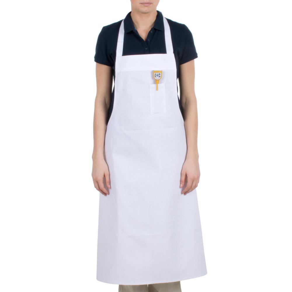 White bib apron -  Image Preview
