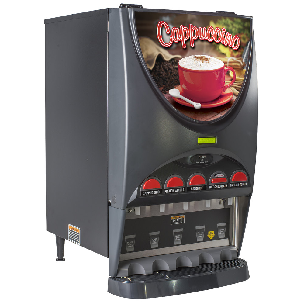 Bunn 37000.0022 iMIX-5 BLK HW Powdered Cappuccino Dispenser with ...