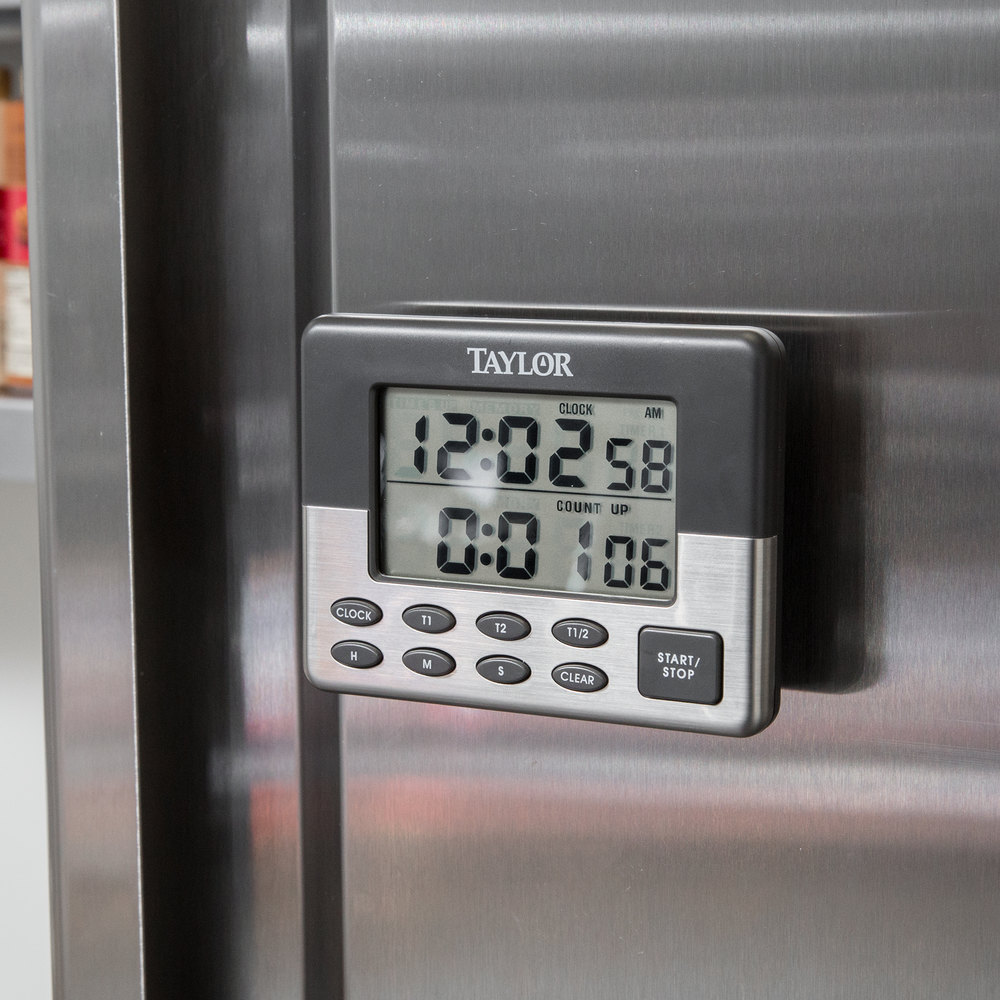 Taylor 5872-9 Jumbo Digital Dual Event Kitchen Timer With