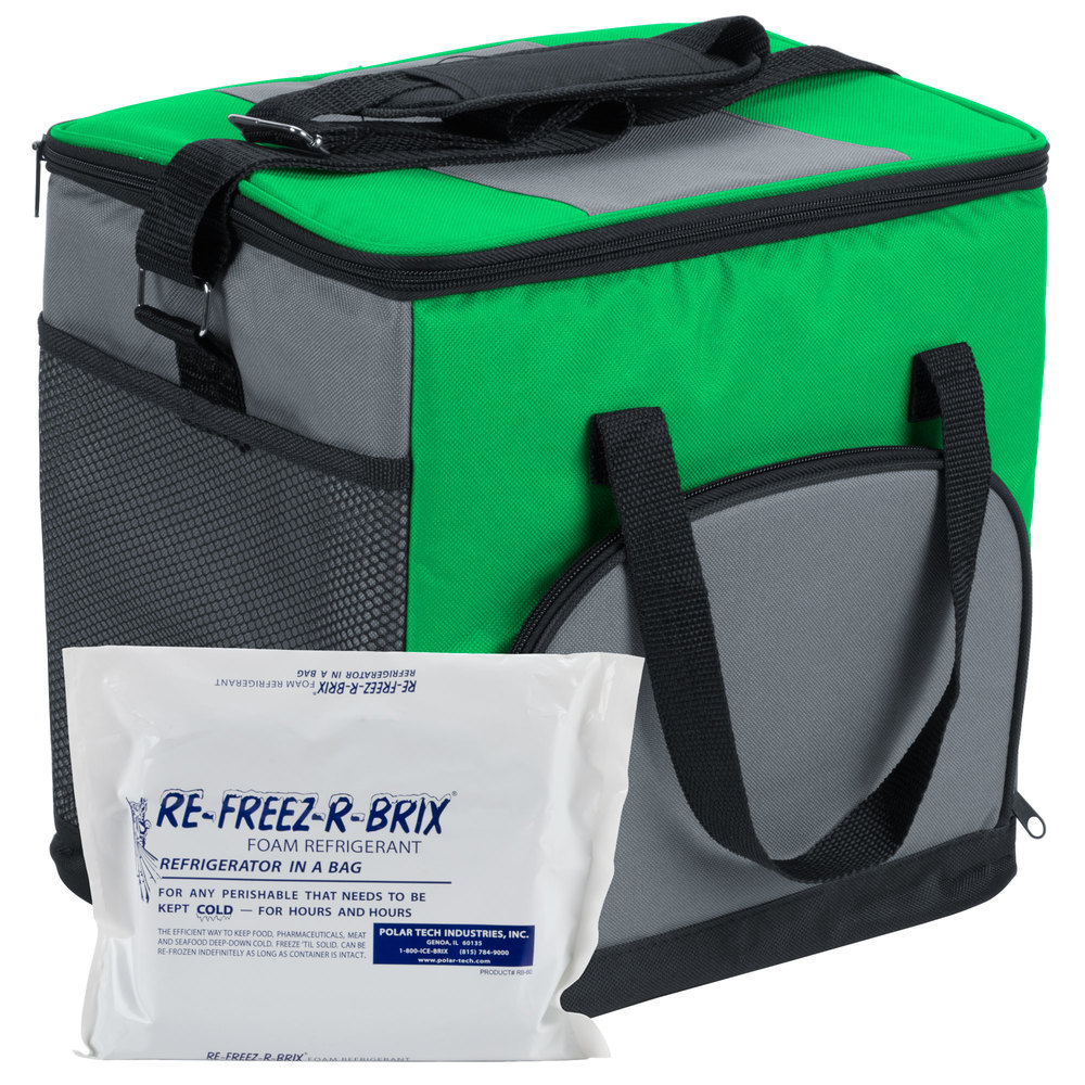 Green Styrofoam Coolers ~ Choice insulated cooler bag soft green nylon