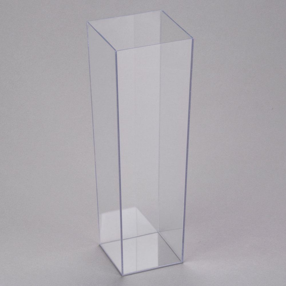 Bud vases accent vases cal mil 879 16 5 inch x 16 inch square clear acrylic accent display reviewsmspy