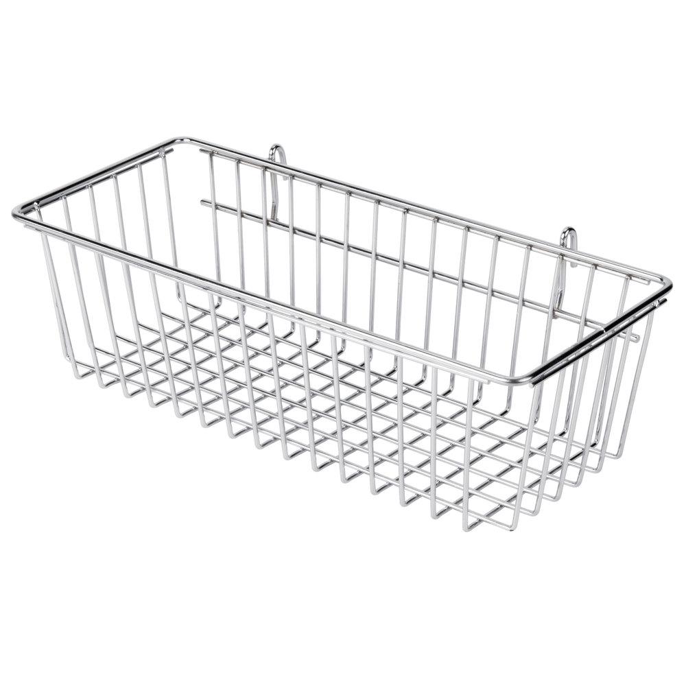 Regency Chrome Storage Basket for Wire Shelving - 17 3/8 inch x 7 1/2 inch x 5 inch