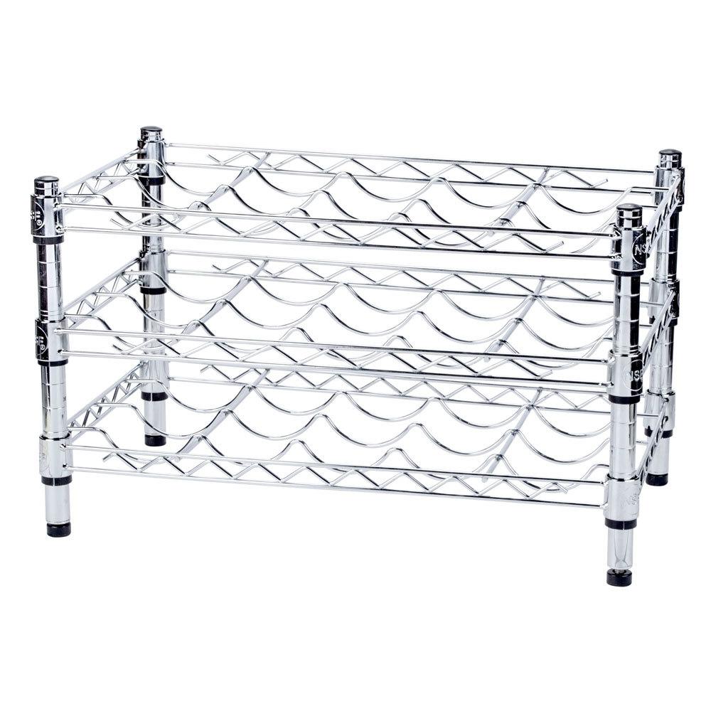 Regency 14 inch x 24 inch 3 Shelf Wire Wine Rack with 14 inch Posts