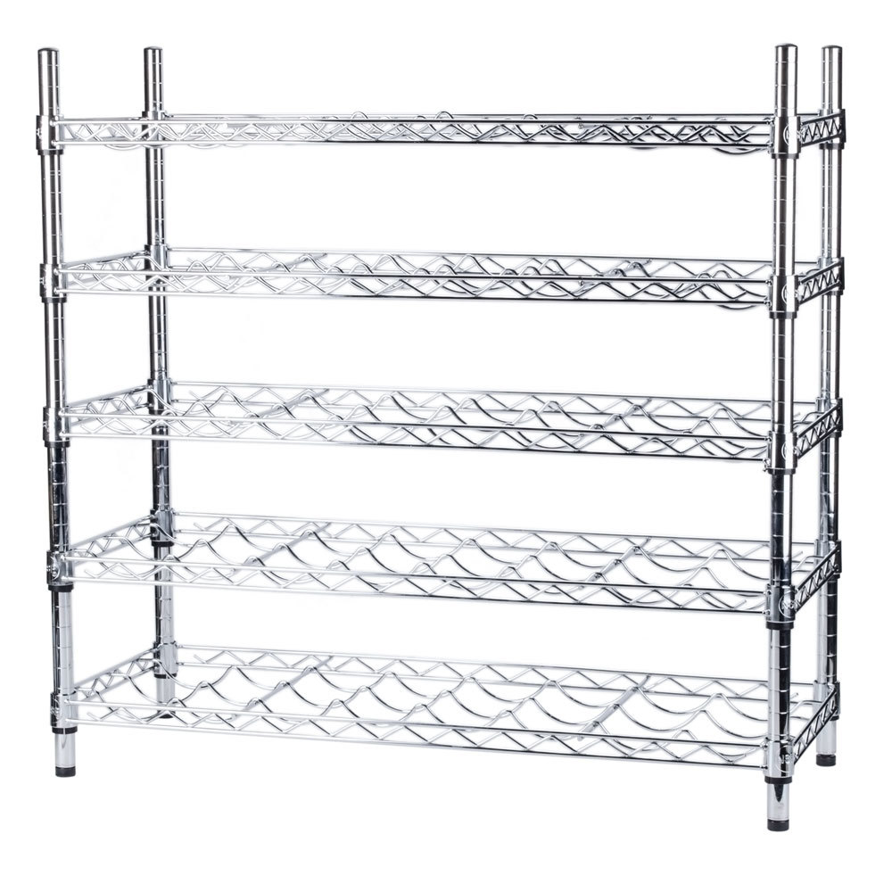 Regency 14 inch x 36 inch 5 Shelf Wire Wine Rack with 34 inch Posts