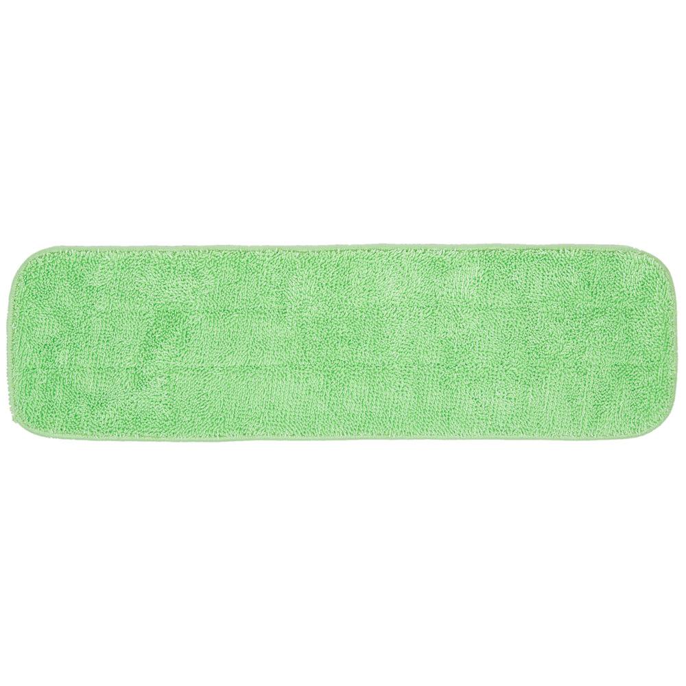 18 Inch Green Microfiber Wet Velcro® Flat Mop ...