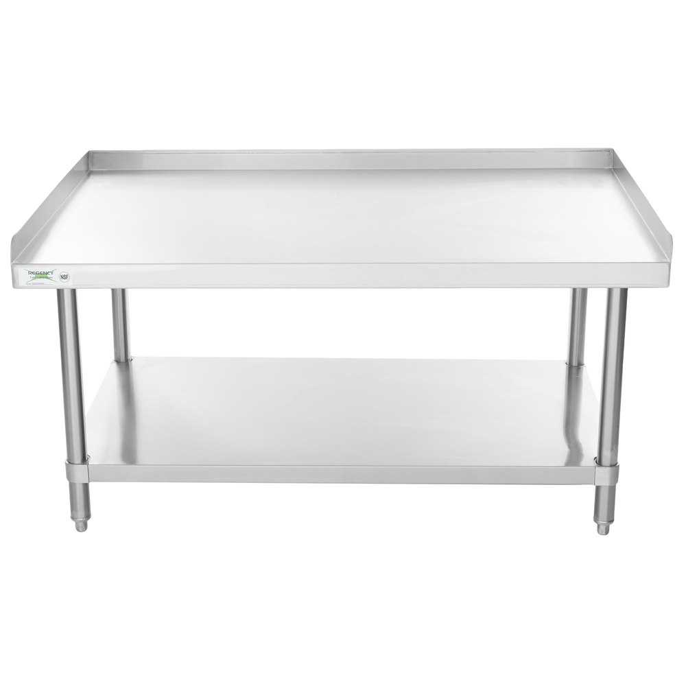 Regency 30 inch x 48 inch 16-Gauge Stainless Steel Equipment Stand with Undershelf