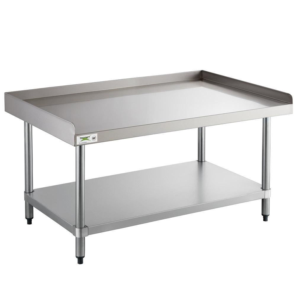 Regency 30 inch x 48 inch 16-Gauge Stainless Steel Equipment Stand with Undershelf