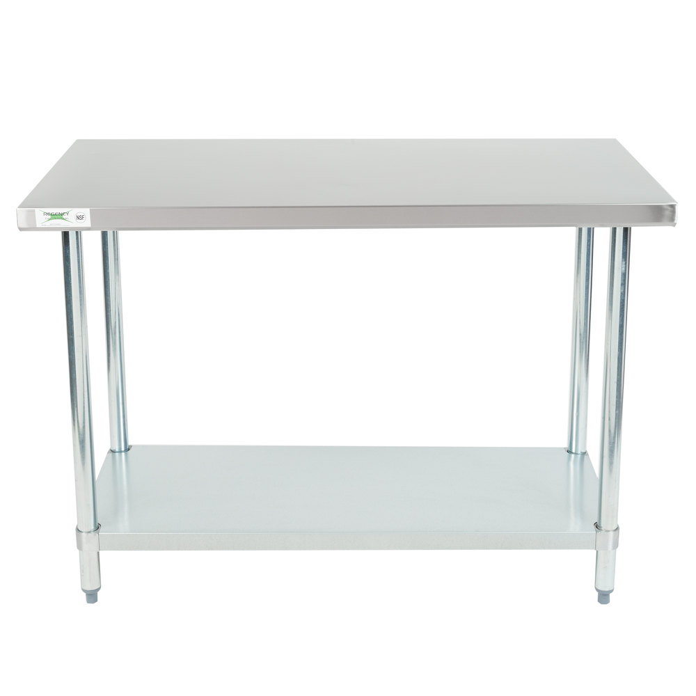 Superieur Regency 24 Inch X 48 Inch 18 Gauge 304 Stainless Steel Commercial Work Table  With ...