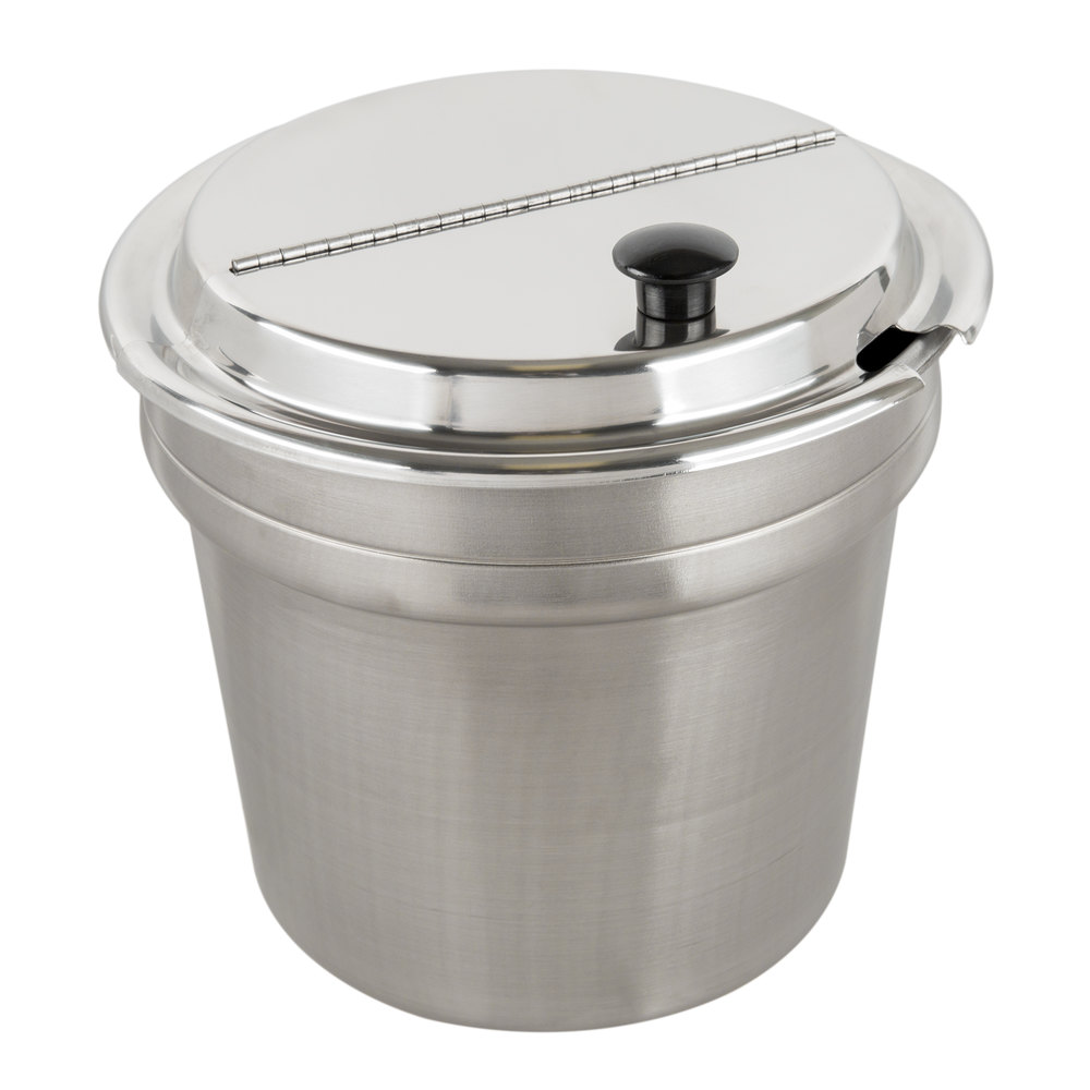 Vollrath 74701D Mirage 7 qt. silver drop-in induction rethermalizer