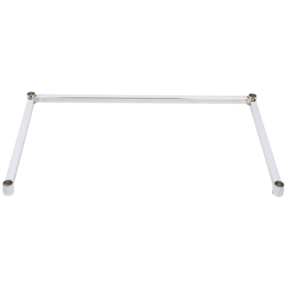 Regency Three-Sided Chrome Epoxy 24 inch x 36 inch Frame for Wire Shelving