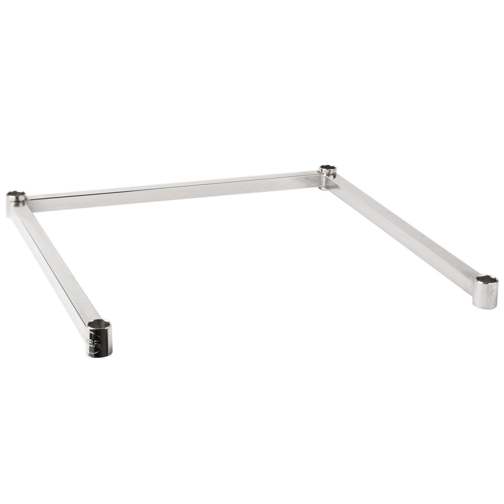 Regency Three-Sided Chrome Epoxy 24 inch x 24 inch Frame for Wire Shelving