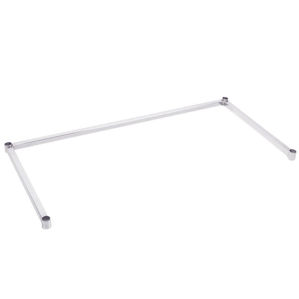 Regency Three-Sided Chrome Epoxy 24 inch x 48 inch Frame for Wire Shelving
