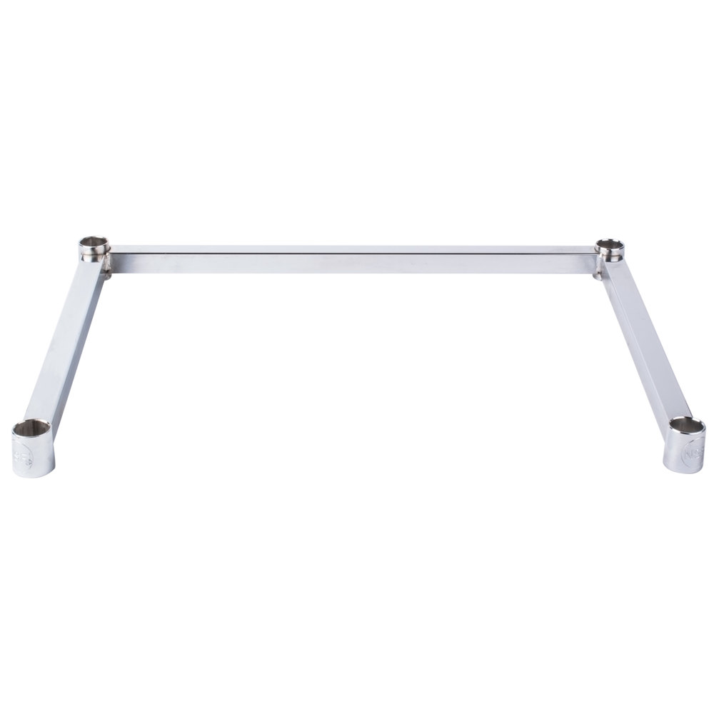Regency Three-Sided Chrome Epoxy 18 inch x 24 inch Frame for Wire Shelving