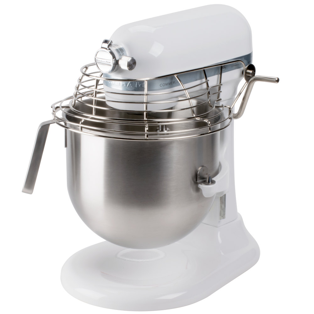 White Kitchenaid white kitchenaid 8 qt. commercial mixer & bowl guard ksmc895wh