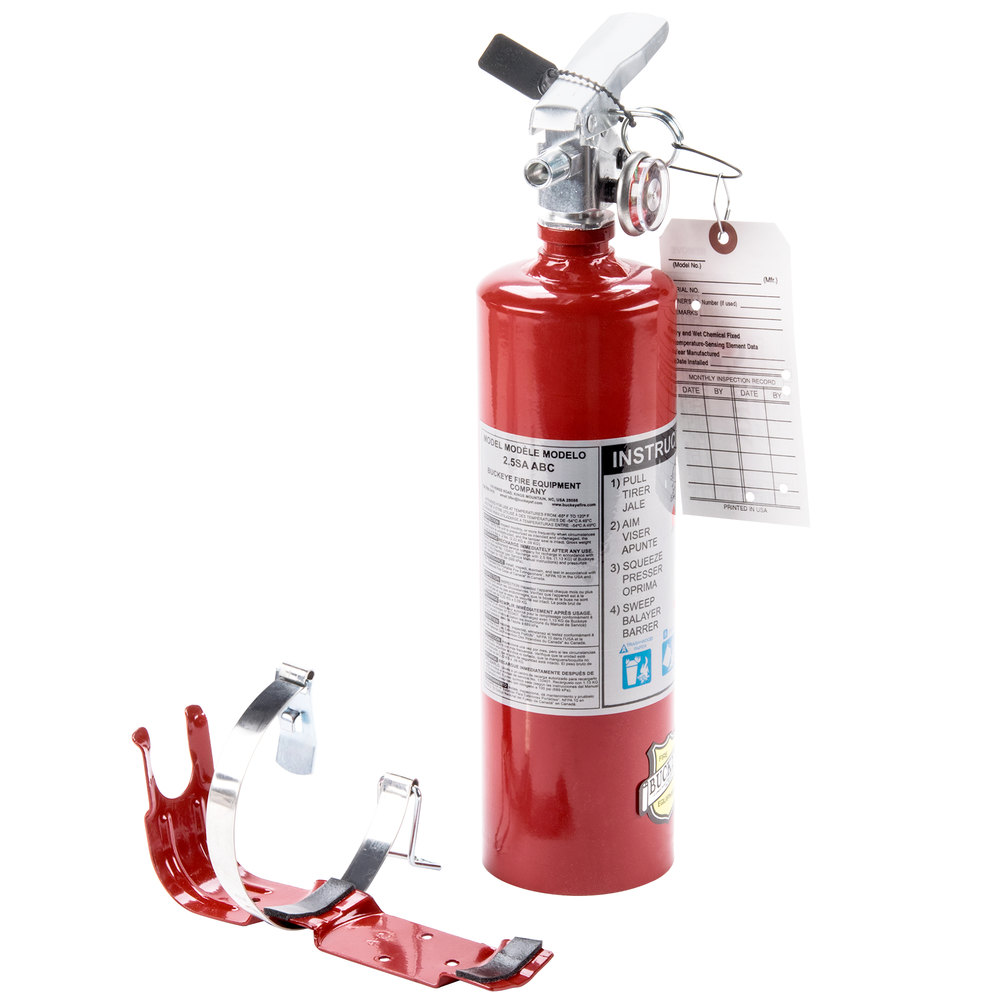 buckeye 2 5 lb abc fire extinguisher rechargeable with dot