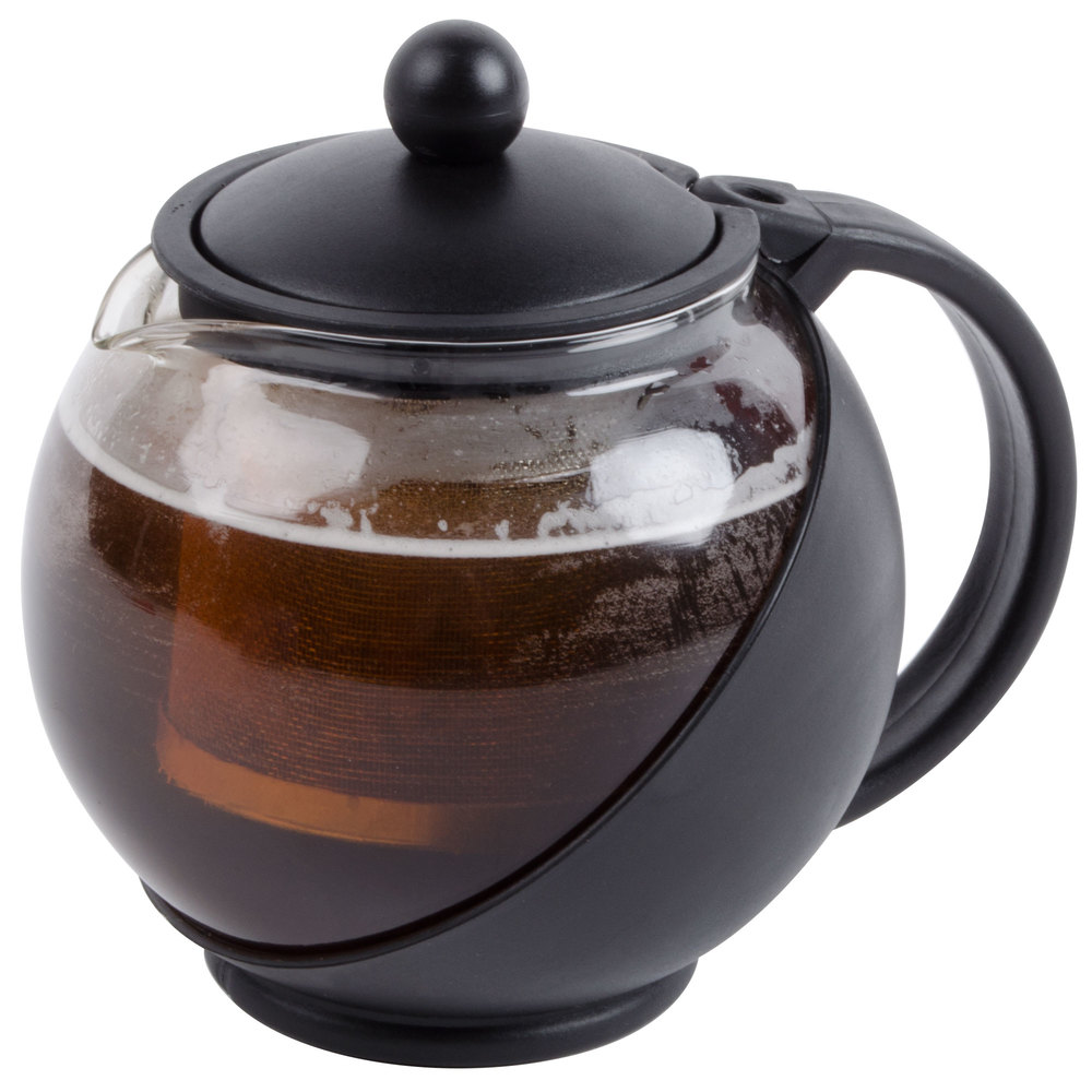 25 oz tempered glass tea pot infuser with stainless steel basket - Tea pots with infuser ...