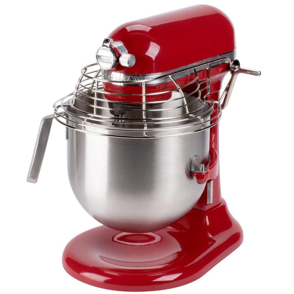 Red Kitchenaid 8 Qt Commercial Mixer Amp Bowl Guard