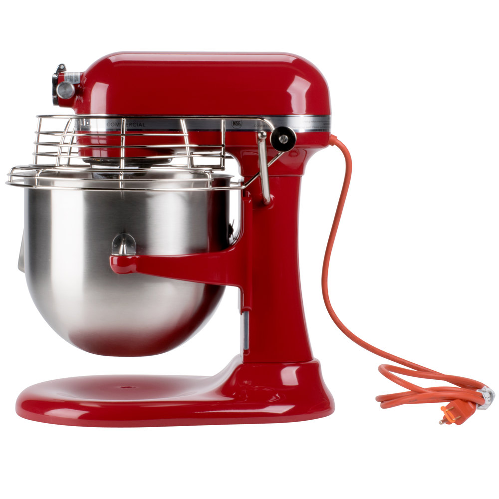 KitchenAid Commercial 8 Quart Bowl Lift Stand Mixer with Bowl Guard Empire Red