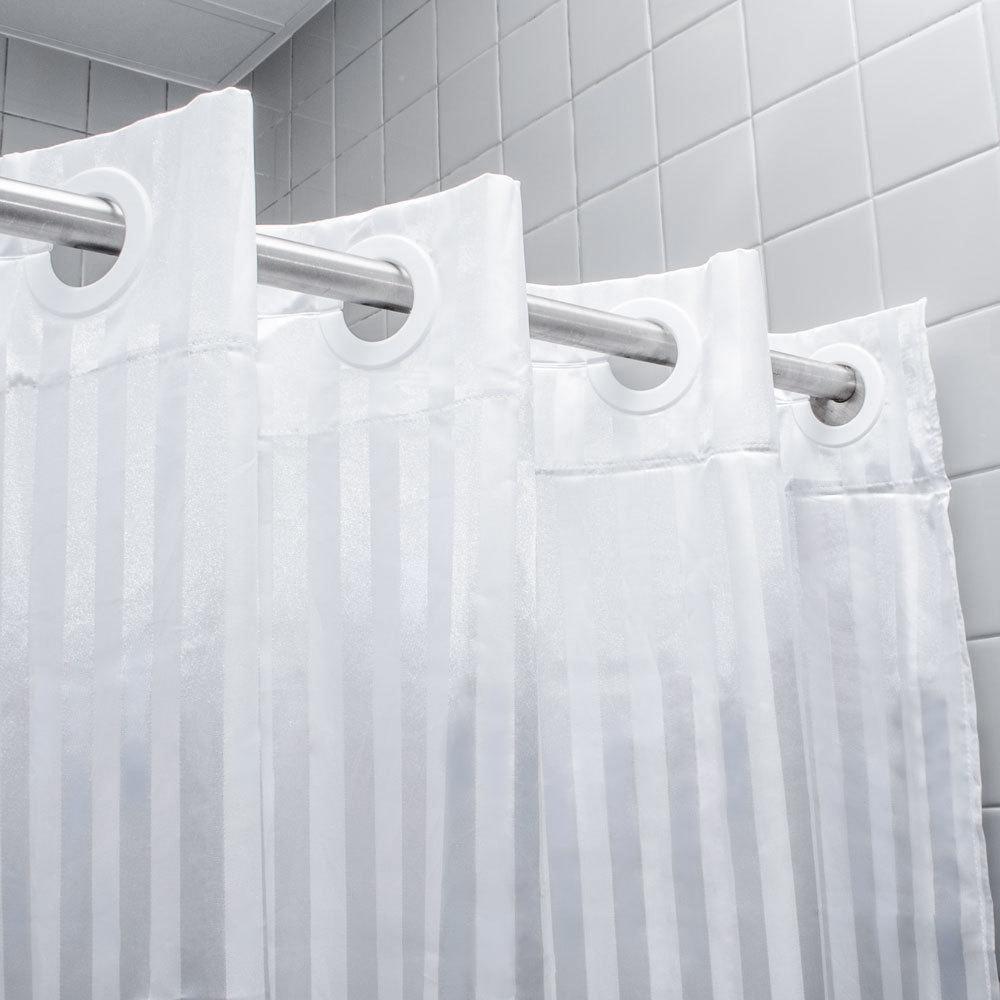 100 Polyester White Shower Curtain Curtain Menzilperde Net