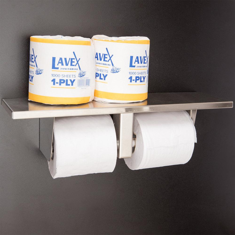 bobrick b 2840 multi roll toilet tissue dispenser with utility