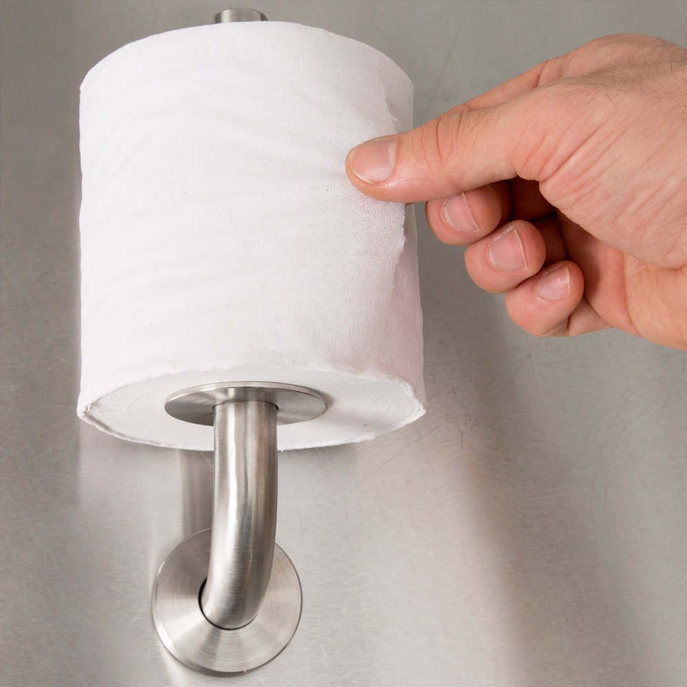Bobrick B541 Spare Toilet Roll Holder with Satin Finish
